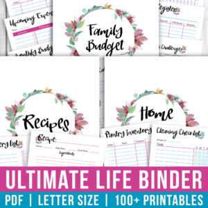Printable Ultimate Life Binder- Watercolor
