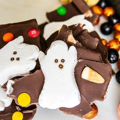 Halloween Milk Chocolate Boo Bark