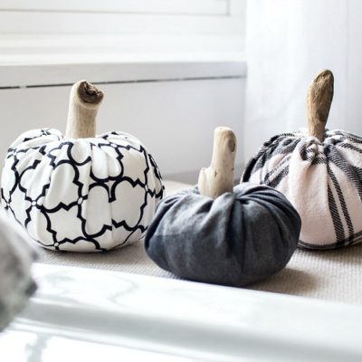 No-Sew DIY Fabric Pumpkins