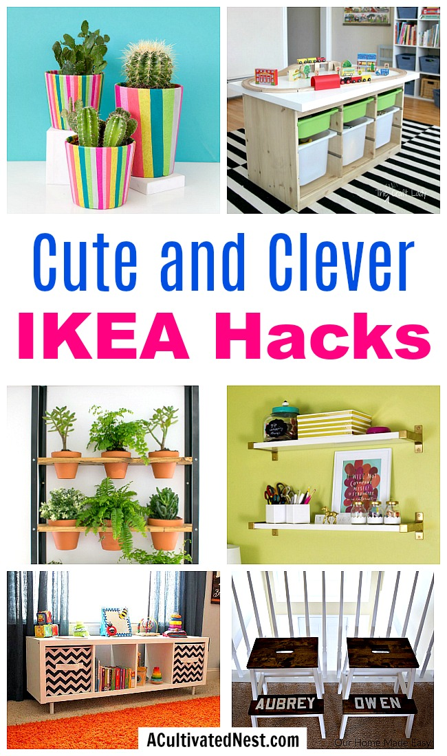 Cute and Clever IKEA Hacks- If you want new decor for your home, you don't have to spend a lot. Instead, try one of these cute and clever IKEA hacks! | DIY decor project, IKEA craft ideas, update IKEA furniture, frugal living, #IKEA #DIYProject #ACultivatedNest