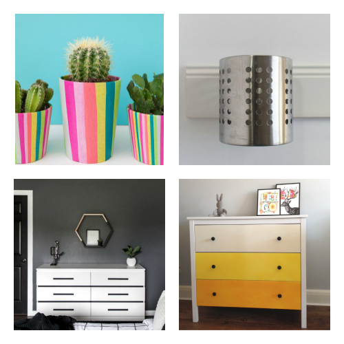 DIY IKEA Hacks- You don't have to break your budget to update your home's decor. Instead, try one of these cute and clever DIY IKEA hacks! | DIY decor project, IKEA craft ideas, update IKEA furniture, frugal living, #IKEAhacks #DIY #ACultivatedNest