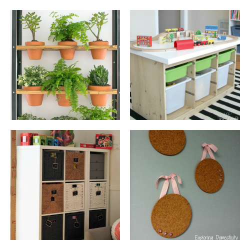 Update Your Home's Decor with IKEA DIY Projects- You don't have to break your budget to update your home's decor. Instead, try one of these cute and clever DIY IKEA hacks! | DIY decor project, IKEA craft ideas, update IKEA furniture, frugal living, #IKEAhacks #DIY #ACultivatedNest