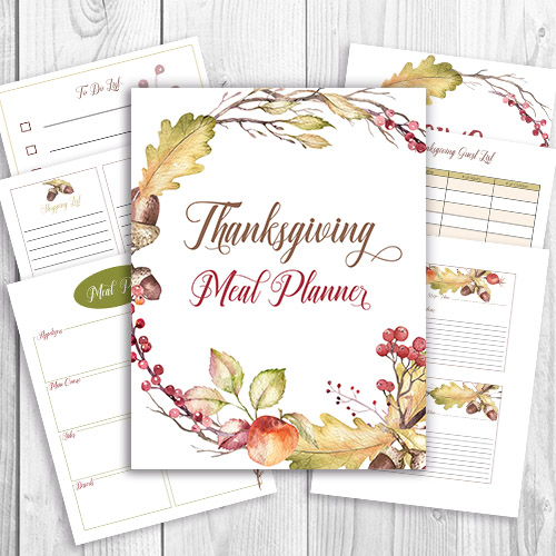 graphic relating to Thanksgiving Planner Printable named Absolutely free Printable Thanksgiving Evening meal Planner + Wall Artwork- A