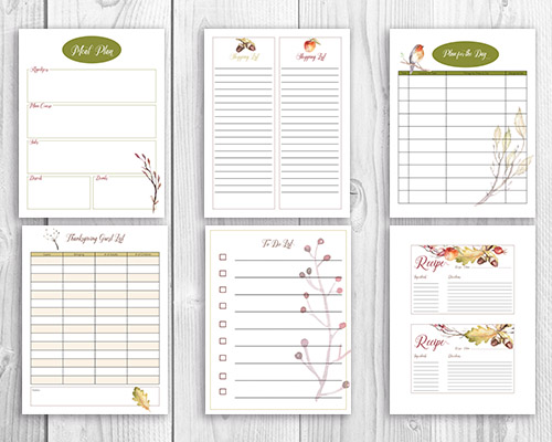 Free Printable Thanksgiving Dinner Planner + Wall Art- Have a stress-free Thanksgiving this year with the help of this free printable Thanksgiving meal planner! Free printable wall art is also included! | Thanksgiving planner, #freePrintable #Thanksgiving #ACultivatedNest