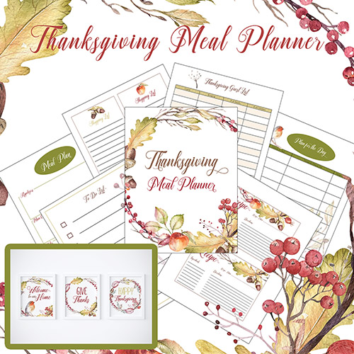 picture relating to Thanksgiving Planner Printable called Cost-free Printable Thanksgiving Dinner Planner + Wall Artwork- A
