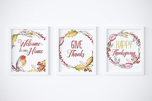 Free Printable Thanksgiving Wall Art + Meal Planner- Have a stress-free Thanksgiving this year with the help of this free printable Thanksgiving meal planner! Free printable wall art is also included! | Thanksgiving planner, #freePrintable #Thanksgiving #ACultivatedNest