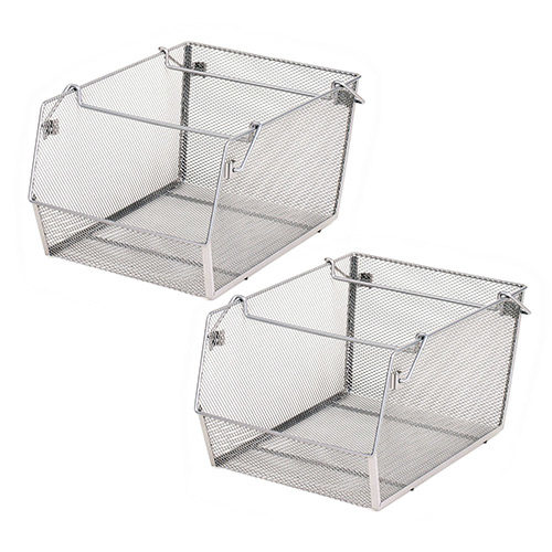 Mesh Stacking Bins (2-Pack)