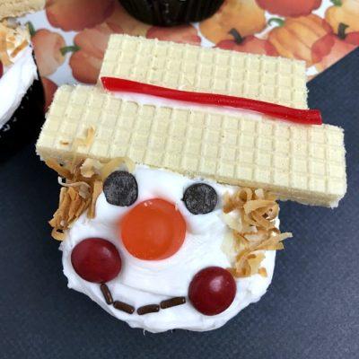 Scarecrow Cupcakes Fall Dessert