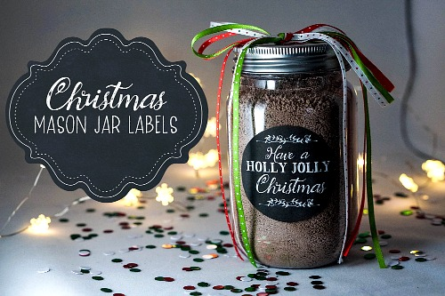 image regarding Printable Mason Jar Label referred to as Free of charge Printable Xmas Mason Jar Labels- A Cultivated Nest