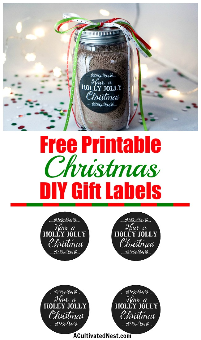 Free Printable Christmas Mason Jar Labels A Cultivated Nest