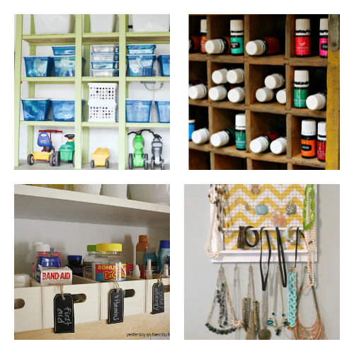 16 Frugal Organizing Hacks- It can be easy (and inexpensive) to organize your home, if you know these 16 smart home organization hacks! Use these to organize your home in a weekend! | organize your home, small space organizing, how to organize on a budget, #organizingTips #homeOrganization #ACultivatedNest
