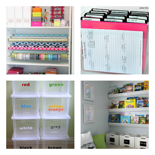 16 Easy Ways to Organize on a Budget- It can be easy (and inexpensive) to organize your home, if you know these 16 smart home organization hacks! Use these to organize your home in a weekend! | organize your home, small space organizing, how to organize on a budget, #organizingTips #homeOrganization #ACultivatedNest