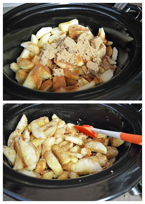 Make an Apple Cobbler in Your Slow Cooker- This slow cooker apple cobbler recipe will help you easily make a delicious dessert, even on your busiest days! This is perfect for fall! | fall recipes, autumn recipes, apple recipes, baking in the slow cooker, baking in the Crock-pot, #recipe #slowCooker #ACultivatedNest