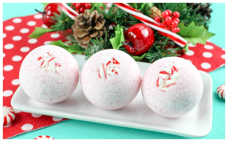 DIY Candy Cane Bath Bombs