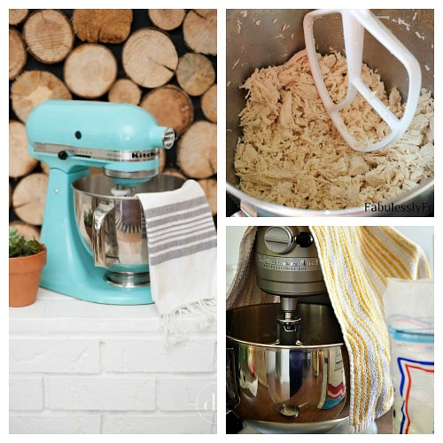 15 KitchenAid Mixer Hacks and Tips- Your stand mixer is good for more than just mixing up desserts! Take advantage of all your mixer can do with these 15 KitchenAid mixer hacks and tips! | ways to use your KitchenAid mixer, things your stand mixer can do, mixer DIY play dough, shred chicken, #hacks #kitchenaid #ACultivatedNest