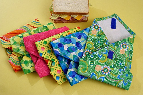 DIY Reusable Sandwich Bags- You can save money and help the environment at the same time by making these DIY reusable products! They're so easy to make, and you can use your favorite colors! | eco friendly, frugal, ways to save money, wool dryer balls, cloth paper towels, unpaper towels, #diy #saveMoney #ACultivatedNest
