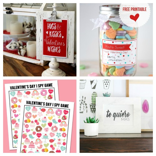 20 Adorable Free Valentine's Day Printables- Whether you want to decorate your home or decorate a gift, this collection of Valentine's Day free printables has everything you could need! | Valentine's Day gift tags, Valentine's labels, Valentine's tags for kids, #freePrintable #ValentinesDay #ACultivatedNest