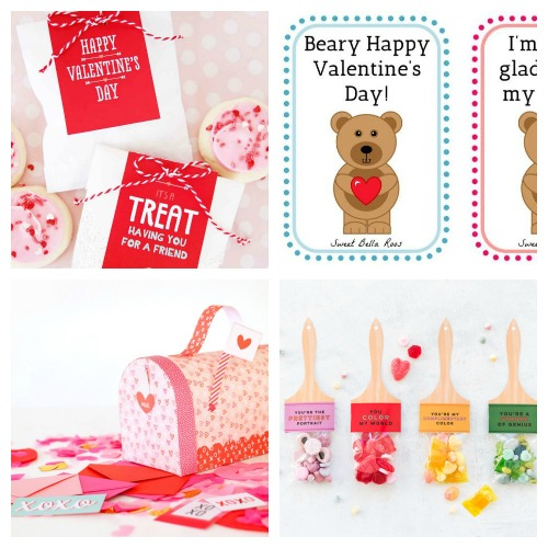 20 Adorable Valentine's Free Printables- Whether you want to decorate your home or decorate a gift, this collection of Valentine's Day free printables has everything you could need! | Valentine's Day gift tags, Valentine's labels, Valentine's tags for kids, #freePrintable #ValentinesDay #ACultivatedNest