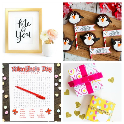 20 Cute Valentine's Printables- Whether you want to decorate your home or decorate a gift, this collection of Valentine's Day free printables has everything you could need! | Valentine's Day gift tags, Valentine's labels, Valentine's tags for kids, #freePrintable #ValentinesDay #ACultivatedNest