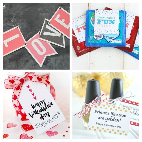 20 Sweet Free Valentine's Printables- Whether you want to decorate your home or decorate a gift, this collection of Valentine's Day free printables has everything you could need! | Valentine's Day gift tags, Valentine's labels, Valentine's tags for kids, #freePrintable #ValentinesDay #ACultivatedNest