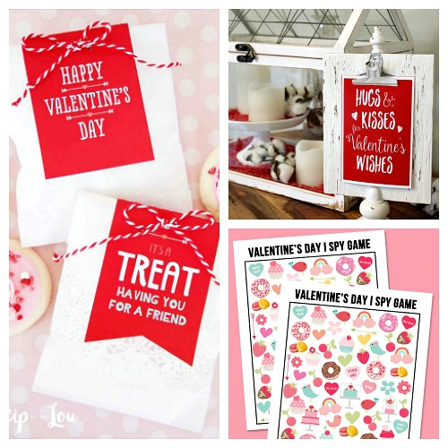 20 Adorable Valentine's Day Free Printables- Whether you want to decorate your home or decorate a gift, this collection of Valentine's Day free printables has everything you could need! | Valentine's Day gift tags, Valentine's labels, Valentine's tags for kids, #freePrintable #ValentinesDay #ACultivatedNest