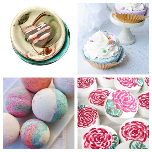 20 Valentine's Day DIY Bath Fizzies- These DIY Valentine's Day bath bombs make wonderful homemade gifts! If you want a unique DIY gift for your special someone this Valentine's Day, you definitely have to make one of these! | homemade bath fizzy, love themed bath bombs, DIY heart shaped bath bombs, #ValentinesDay #homemadeGift #ACultivatedNest