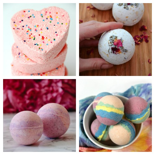 20 Valentine's Day Homemade Bath Fizzies- These DIY Valentine's Day bath bombs make wonderful homemade gifts! If you want a unique DIY gift for your special someone this Valentine's Day, you definitely have to make one of these! | homemade bath fizzy, love themed bath bombs, DIY heart shaped bath bombs, #ValentinesDay #homemadeGift #ACultivatedNest