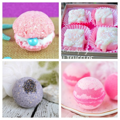 20 Valentine's Day Bath Bomb DIY Gift Ideas- These DIY Valentine's Day bath bombs make wonderful homemade gifts! If you want a unique DIY gift for your special someone this Valentine's Day, you definitely have to make one of these! | homemade bath fizzy, love themed bath bombs, DIY heart shaped bath bombs, #ValentinesDay #homemadeGift #ACultivatedNest