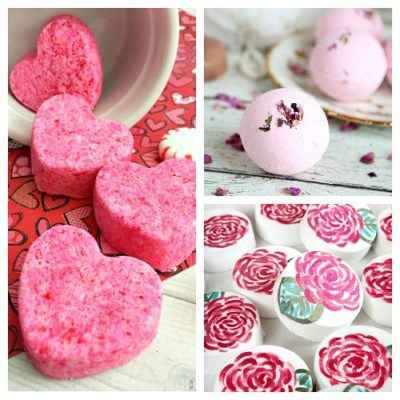 20 DIY Valentine's Day Bath Bombs