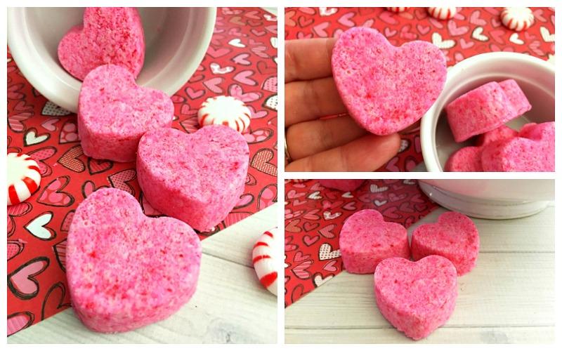 Heart-Shaped Bath Bombs