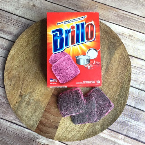10 Amazing Brillo Steel Wool Soap Pad Hacks- Did you know that Brillo pads can be used for more than just scrubbing pots and pans? Here are 10 amazing Brillo steel wool soap pad hacks you need to try! | cleaning hacks, Brillo hacks, S.O.S hacks, use up leftover Brillo, frugal living, #hacks #cleaningTips #ACultivatedNest