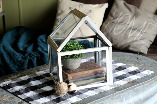 DIY Picture Frame Terrarium- An inexpensive and easy way to make pretty decor is with dollar store materials! Check out all of this pretty home decor made with dollar store frames! | dollar store decor DIY projects, dollar store crafts, upcycle old frames, #dollarStore #dollarTree #DIY #decor #AcultivatedNest