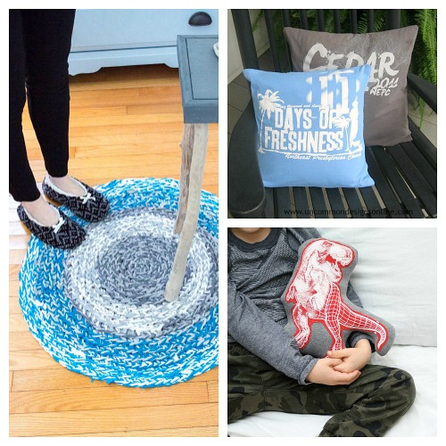 14 Genius Ways to Upcycle T-Shirts- Just because a t-shirt's old doesn't mean it's trash! Instead, try one of these awesome ways to upcycle t-shirts! There are a lot of great t-shirt DIYs to try! | repurpose t-shirt, t-shirt restyle, recycle t-shirt, ways to use favorite old shirts, #upcycle #diy #ACultivatedNest