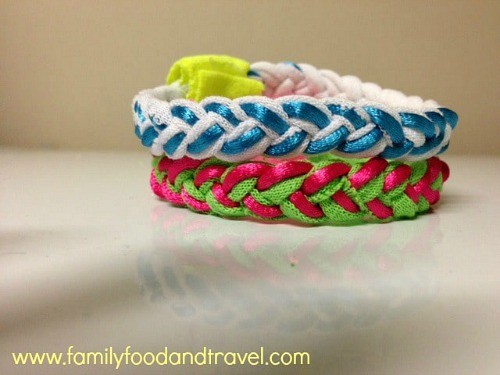 Make a T-Shirt Bracelet- Just because a t-shirt's old doesn't mean it's trash! Instead, try one of these awesome ways to upcycle t-shirts! There are a lot of great t-shirt DIYs to try! | repurpose t-shirt, t-shirt restyle, recycle t-shirt, ways to use favorite old shirts, #upcycle #diy #ACultivatedNest