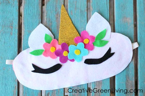 Make a Unicorn Sleep Mask- Just because a t-shirt's old doesn't mean it's trash! Instead, try one of these awesome ways to upcycle t-shirts! There are a lot of great t-shirt DIYs to try! | repurpose t-shirt, t-shirt restyle, recycle t-shirt, ways to use favorite old shirts, #upcycle #diy #ACultivatedNest