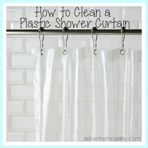 Shower Curtain Cleaning Hack- You don't have to spend a lot of time keeping your home's bathrooms clean, if you know these 10 awesome bathroom cleaning hacks! | bathroom cleaning tips, how to keep bathroom clean with boys, #cleaningTips #cleaning #ACultivatedNest
