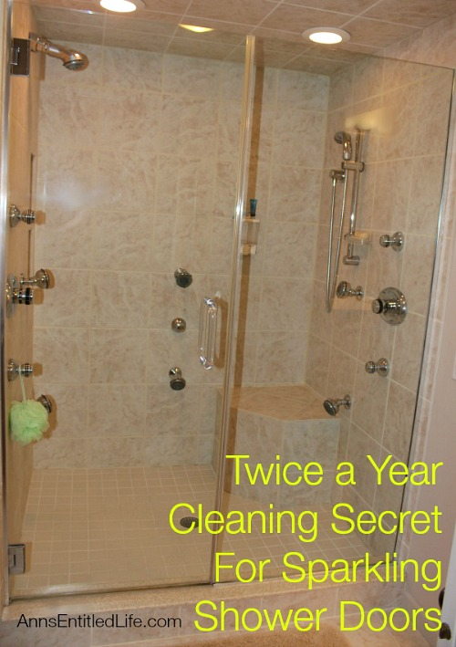 Shower Door Cleaning Tips- You don't have to spend a lot of time keeping your home's bathrooms clean, if you know these 10 awesome bathroom cleaning hacks! | bathroom cleaning tips, how to keep bathroom clean with boys, #cleaningTips #cleaning #ACultivatedNest