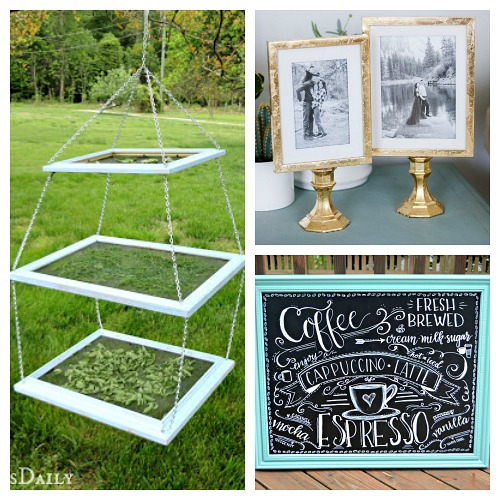 Designer Style DIY Home Decor with Dollar Store Frames- An inexpensive and easy way to make pretty decor is with dollar store materials! Check out all of this pretty home decor made with dollar store frames! | dollar store decor DIY projects, dollar store crafts, upcycle old frames, #dollarStore #dollarTree #DIY #decor #AcultivatedNest