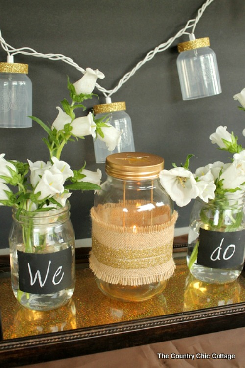 Rustic Glam Wedding Vignette- An inexpensive and easy way to make pretty decor is with dollar store materials! Check out all of this pretty home decor made with dollar store frames! | dollar store decor DIY projects, dollar store crafts, upcycle old frames, #dollarStore #dollarTree #DIY #decor #AcultivatedNest