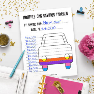 Printable Car Savings Tracker