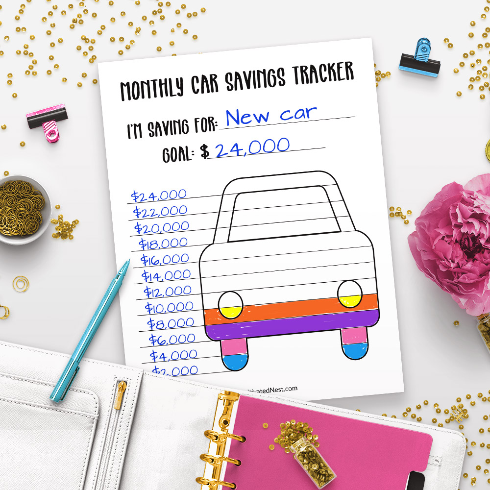 photo relating to Car Printable referred to as Printable Motor vehicle Discounts Tracker