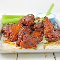 Oven Baked Wings with Homemade Sweet BBQ Buffalo Sauce
