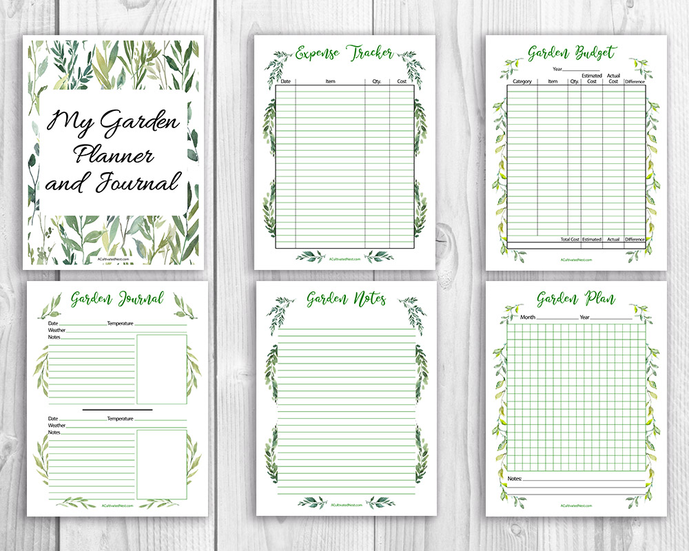 picture about Printable Garden Journal known as Printable Back garden Planner
