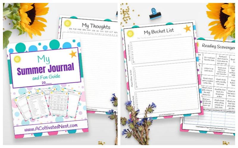 Free Printable Summer Journal for Kids