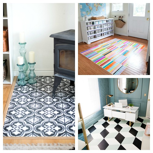 Gorgeous DIY Painted Floor Ideas- A Cultivated Nest