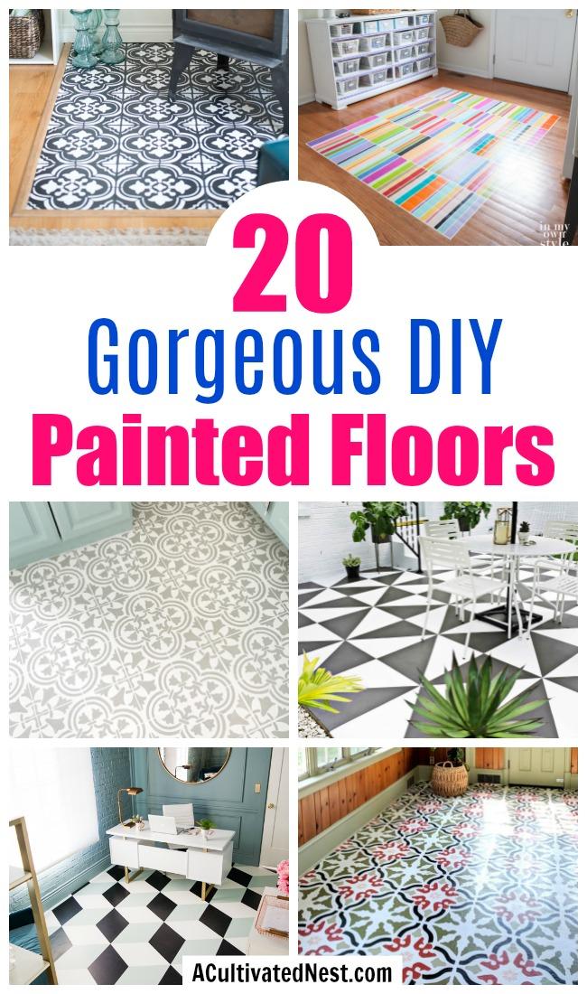 20 Gorgeous DIY Painted Floor Ideas