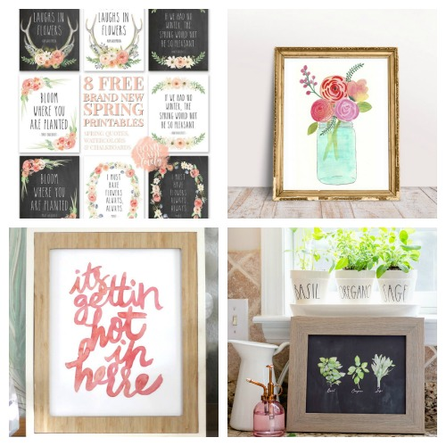 20 Gorgeous Free Printable Watercolor Wall Artworks- If you want to update your home's decor on a budget, you need to check out these 20 beautiful watercolor wall art free printables! | watercolor art prints, floral art prints, summer wall art, spring wall art, flower art prints, #wallArt #freePrintables #printable #ACultivatedNest