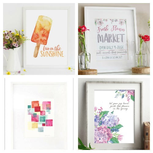 20 Gorgeous Free Printable Wall Art Prints- If you want to update your home's decor on a budget, you need to check out these 20 beautiful watercolor wall art free printables! | watercolor art prints, floral art prints, summer wall art, spring wall art, flower art prints, #wallArt #freePrintables #printable #ACultivatedNest