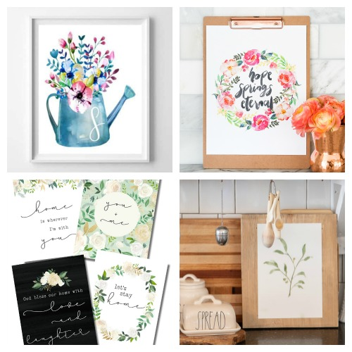 20 Free Wall Art Printables- If you want to update your home's decor on a budget, you need to check out these 20 beautiful watercolor wall art free printables! | watercolor art prints, floral art prints, summer wall art, spring wall art, flower art prints, #wallArt #freePrintables #printable #ACultivatedNest