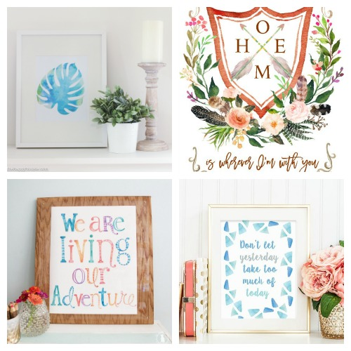20 Bright and Colorful Wall Art Free Printables- If you want to update your home's decor on a budget, you need to check out these 20 beautiful watercolor wall art free printables! | watercolor art prints, floral art prints, summer wall art, spring wall art, flower art prints, #wallArt #freePrintables #printable #ACultivatedNest